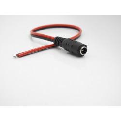 Connettore DC FEMMINA - jack 5.5-2.1 mm con cavo rosso/nero 30 cm
