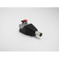 Adattatore Connettore DC MASCHIO 12V 5.5 / 2.1mm per alimentazione 12v morsetti a clip
