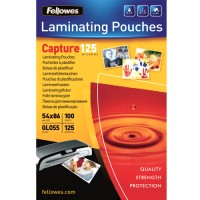 Pouches lucide 125 micron formato 54x86mm Fellowes 53063 100pz