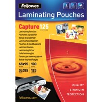 Pouches lucide 125 micron formato 65x95mm Fellowes 53067 100pz