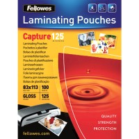 Pouches lucide 125 micron formato 83x113mm Fellowes 53067 100pz