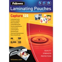 Pouches lucide 125 micron formato 111x156 A6 mm Fellowes 53072 100pz