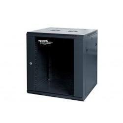 Armadio RACK A PARETE 12U 12 unità 600X450 (1 VEN.,4 MON.) LAT. REM. NERO