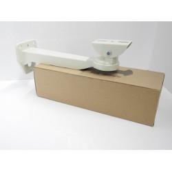 Staffa per telecamera / alloggiamento in metallo verniciato Avorio a 3 assi regolabili