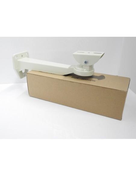 Staffa per telecamera / alloggiamento in metallo verniciato colore BIANCO a 3 assi regolabili