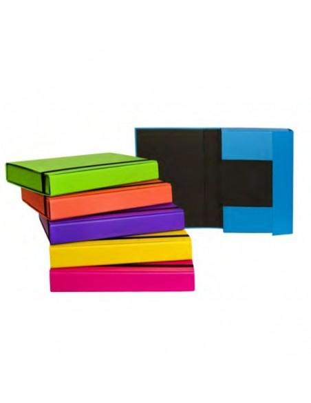 Cartella portaprogetti Fluo con elastico Dorso dorso 5 cm
