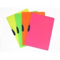 Cartellina con clip girevole CLIPPER - Conf. 4 Pz colori assortiti fluo - SHOCKING FILE FELLOWES 21X29,7