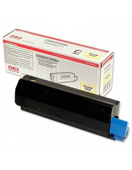 Toner Oki GIALLO 43034805 - C3200 /C3200N ORIGINALE 1500 COPIE