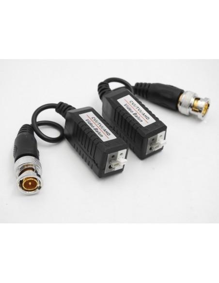 Coppia Adattatori Video Balun Passivi UTP  - AHD / TVI / CVI / Analogico - Trasmettitore + ricevitore