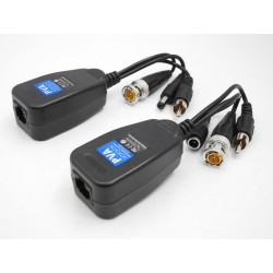 Coppia HD VIDEO Balun AHD / CVI / TVI / ANALOGICO CON ALIMENTAZIONE + AUDIO RJ45 1080P 12-28 VAC