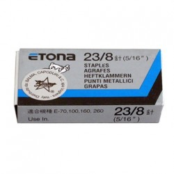 ETONA 23/8 Punti metallici per cucitrice a pinza - 8mm