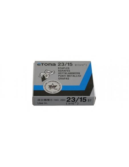 ETONA 23/15 Punti metallici per cucitrice a pinza - 15mm