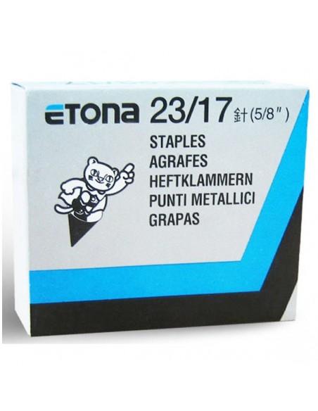 ETONA 23/17 Punti metallici per cucitrice a pinza - 17mm