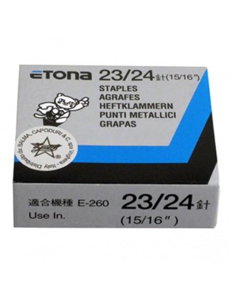 ETONA 23/24 Punti metallici per cucitrice a pinza - 24mm