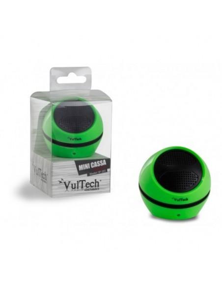 Mini cassa acustica - Autoalimentata Aux 3.5mm - Verde