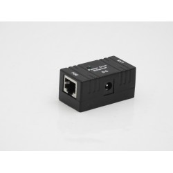 POE INJECTOR PASSIVO 1236 DATI 4578 POWER  IP ETHERNET LAN NETWORK MONTAGGIO A  PARETE