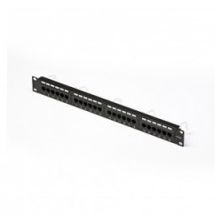 PATCH PANEL 24 PORTE RJ45 U/UTP CAT. 5e PER RACK 19""