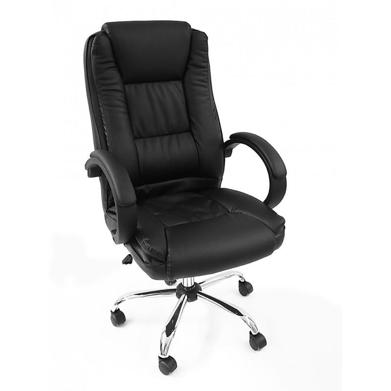 Poltrona da ufficio presidenziale ergonomica girevole ecopelle 238-3 - LANZA UFFICIO SRL