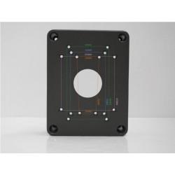 Base profonda / Staffa cassetta porta fili / balun / splitter multiuso per telecamera videosorveglianza