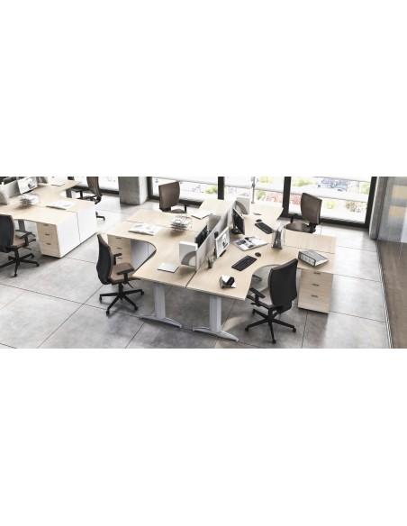 Composizione Workstation - postazione di lavoro LANZAox26 - MADE IN ITALY