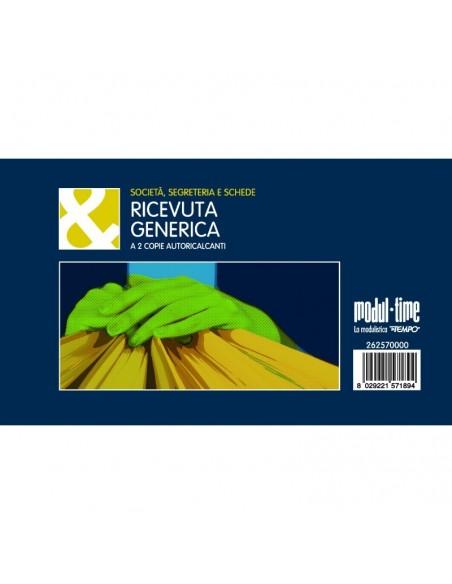 RICEVUTA GENERICA 10X17 - 50x2 autoricalcante - RICEVUTE GENERICHE