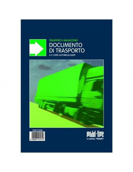 DDT - Blocco documento di trasporto 50x2 autoricalcante 15X22 cm verticale