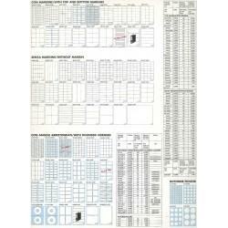 C503 210x297mm - ETICHETTE AUTOADESIVE INKJET LASER FOTOCOPIATORI COL. BIANCO