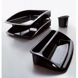 Portaoggetti STEAMLINE di Caimi in policarbonato nero