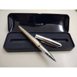 Penna Tombow Elegante Silver con dettagli in oro