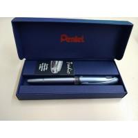 Penna Pentel  TRADIO METAL-Silver Elegante (punta con doppia flessibilità)