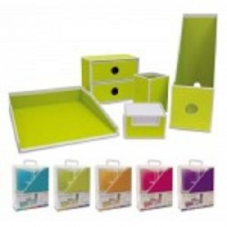 Set Scrivania 5 pezzi in cartoncino 2 mm