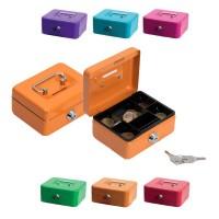 Cassetta Salvadanaio in metallo con lucchetto e due chiavi - Disponibili in vari colori