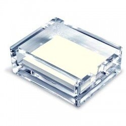 Porta foglietti in plexiglass Scatto