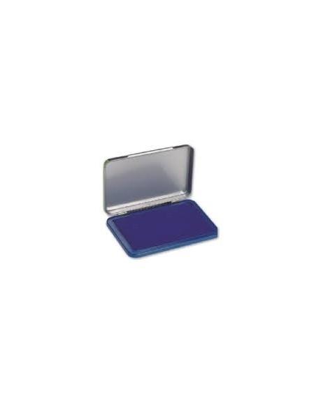Cuscinetto inchiostrato in puro cotone - 12x8 cm - Blu - Scatto