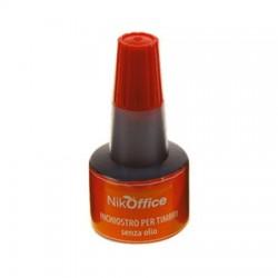 Inchiostro Per Timbri senza olio - NikOffice - Rosso