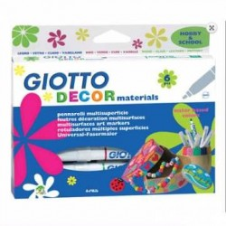 PENNARELLI GIOTTO DECOR MATERIALS DA 6 - MULTISPUEPRFICIE