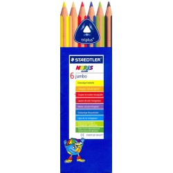 6 Matite colorate triangolari Jumbo - Staedtler