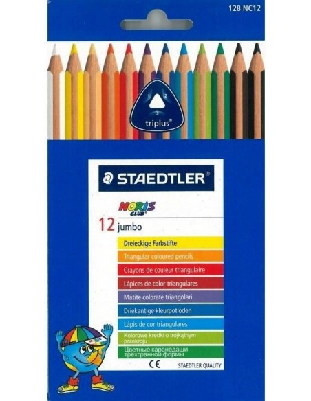 12 Matite colorate triangolari Jumbo - Staedtler