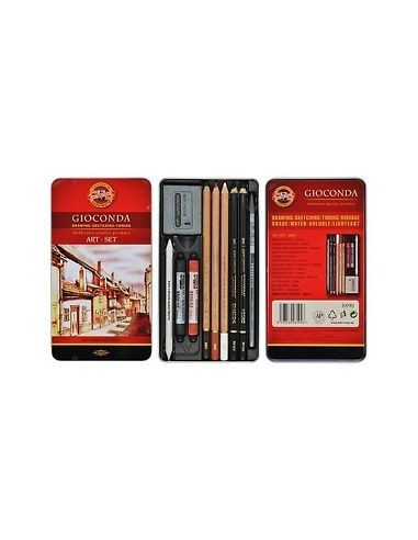Koh-I-Noor Gioconda Mini Art Set in Metal Case