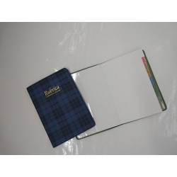Rubrica address book tascabile SIRE - blu scozzese