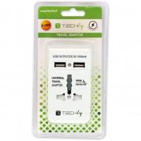 Adattatore Universale da Viaggio da 1A per prese Elettriche 2 USB