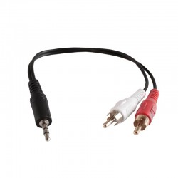Cavo Audio Jack 3.5 mm to 2x RCA da 25 cm