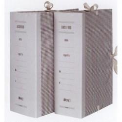Faldoni per archivio rivestiti in carta dorso 8 cm - 25x35 cm