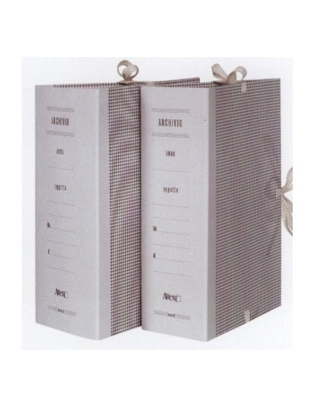 Faldoni per archivio rivestiti in carta dorso 10 cm - 25x35 cm