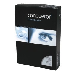 CARTA PER LETTERA CONQUEROR - A4 - 21X29,7 CARTA SMOOTH-SATIN A4 BIANCO DIAMANTE 100 G/MQ ULTRA LISCIO (CONF.50)