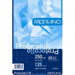 200 Fogli Protocolli a quadretti FABRIANO 29.7x42 cm-60 g/m-5mm