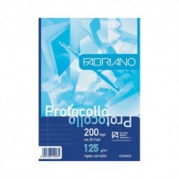 200 Fogli Protocolli rigato uso bollo FABRIANO 29.7x42 cm- 125 g/m