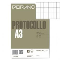 200 Fogli Protocolli rigato commercialei FABRIANO 29.7x42 cm-60 g/m