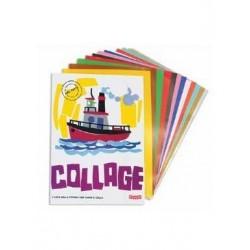 Album Collage 6 fogli carta adesiva 24x34 cm colori assortiti