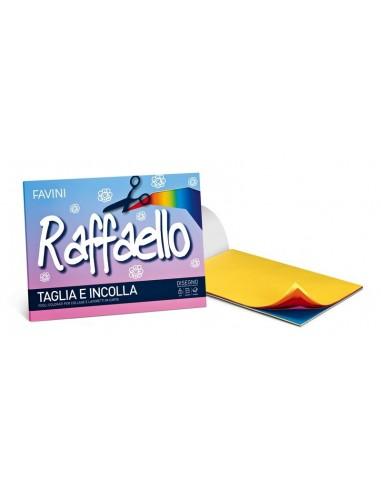 Album Favini Raffaello Taglia e Incolla 50 fogli colorati 90g/m 24x33 cm